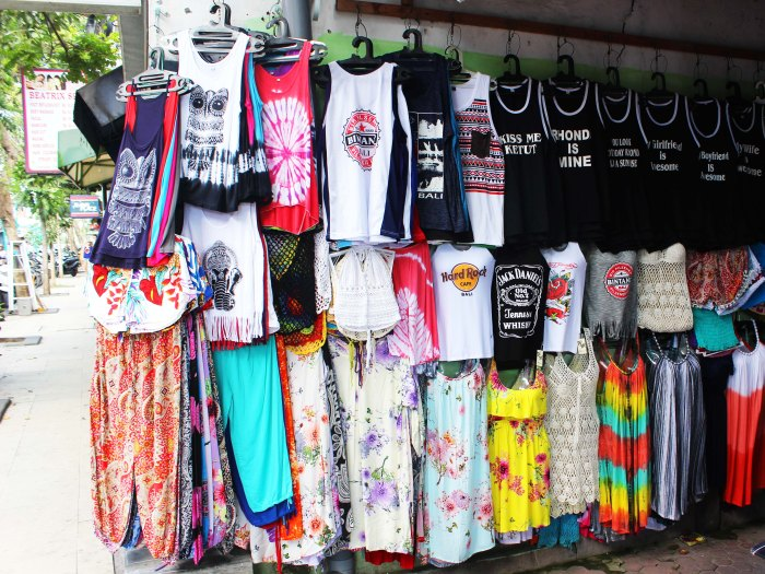 Hawker stall - shopping in Kuta Beach, Bali, Indonesia