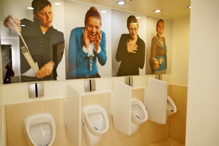 Impression auf dem Herren-WC