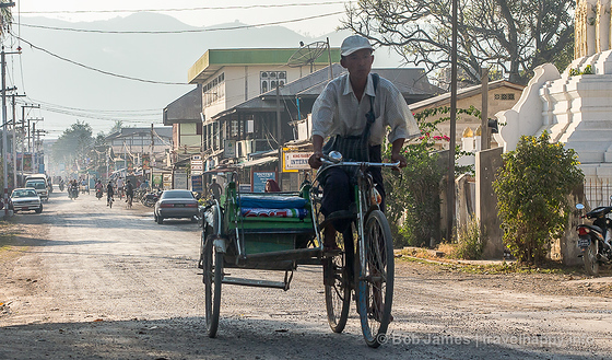 Downtown Nyaungshwe, the gateway to Inle Lake