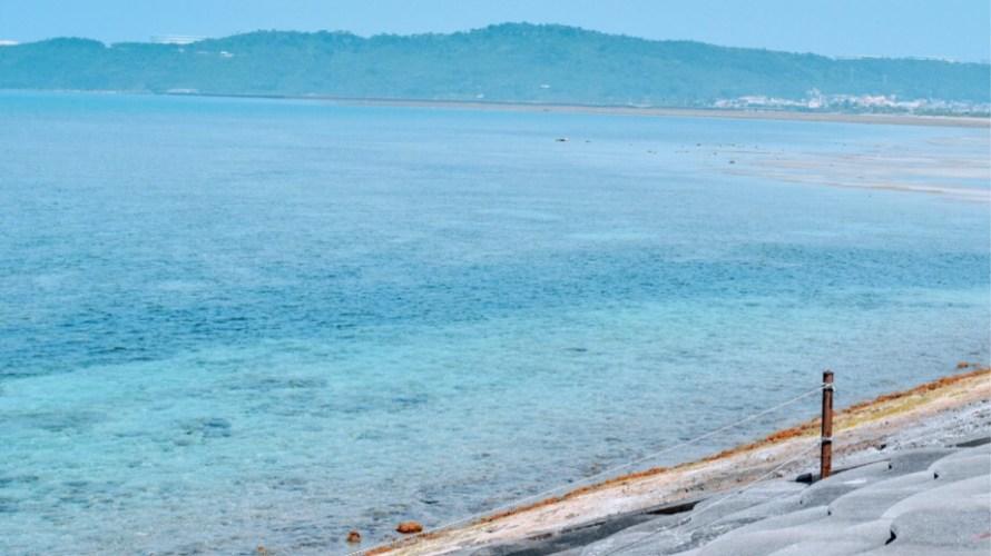 美しすぎる干潟が続く海中道路でまったり(沖縄家族旅行7日目③)