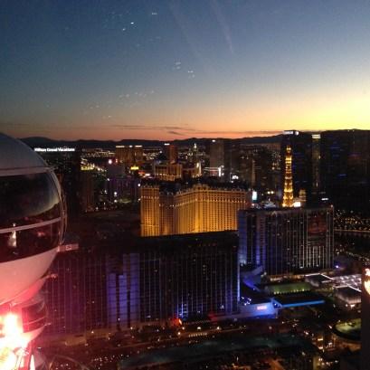 Attraktion, Touristenattraktion, Riesenrad, Las Vegas, high roller, strip, sunset, sonnenuntergang, ausblick, skyline