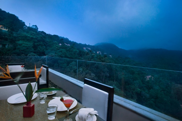 Have a cosy dinner at Vivanta by Taj Madikeri, Coorg.