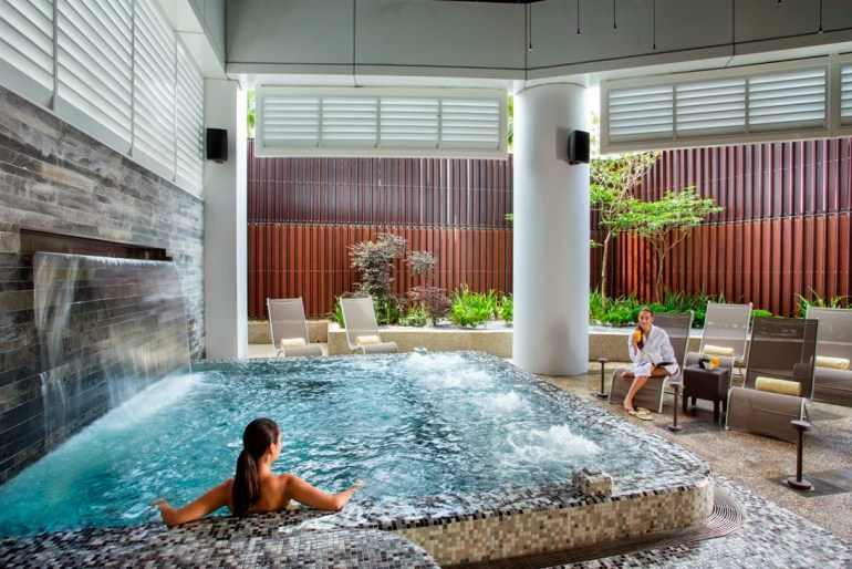 Go for a swim after a hectic day and unwind at the hotel's spa.