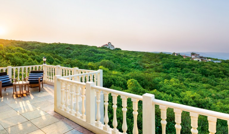 A green view of Mahabaleshwar from the Sanctuary Suite balcony.