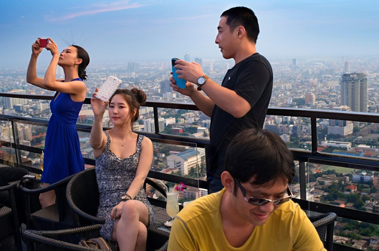 Moon Bar at Banyan Tree Bangkok is one of the best rooftop bars in the city. You'll get many Instagram-worthy shots here.