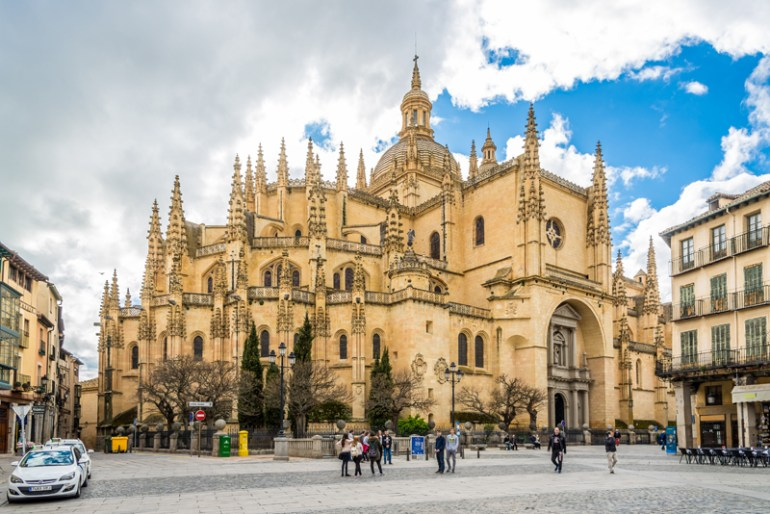 Segovia Cathedral is the last Gothic cathedral built in Spain.