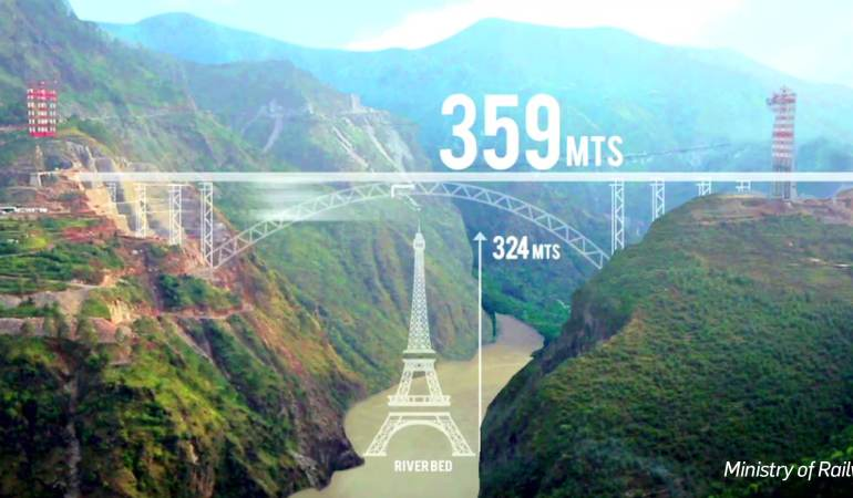Jammu to Get Railway Bridge Higher Than the Eiffel Tower