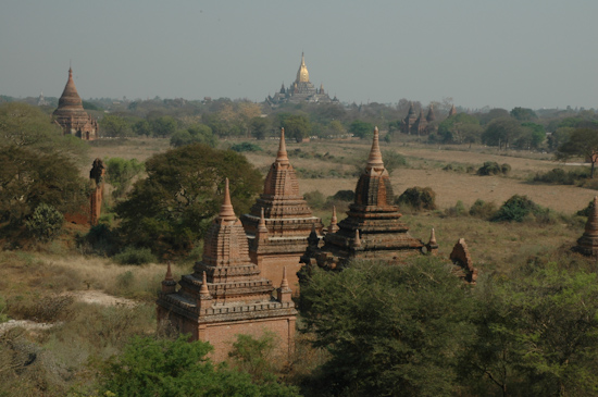 View of Ananda And Other Temples From Schwesandaw Paya