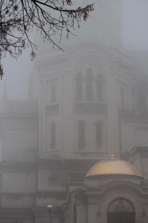 Landmark Covered in Fog; Sofia, Bulgaria; 2011