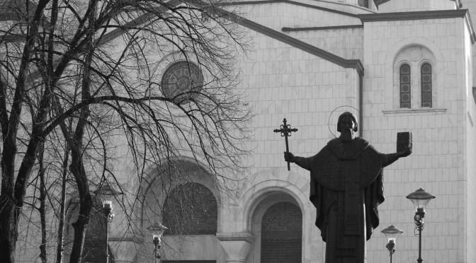Temple of Saint Sava (black-n-white); Belgrade, Serbia; 2011