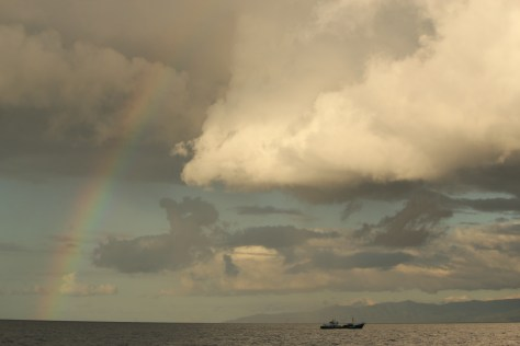 Clouds and Rainbow; Comoros; 2014