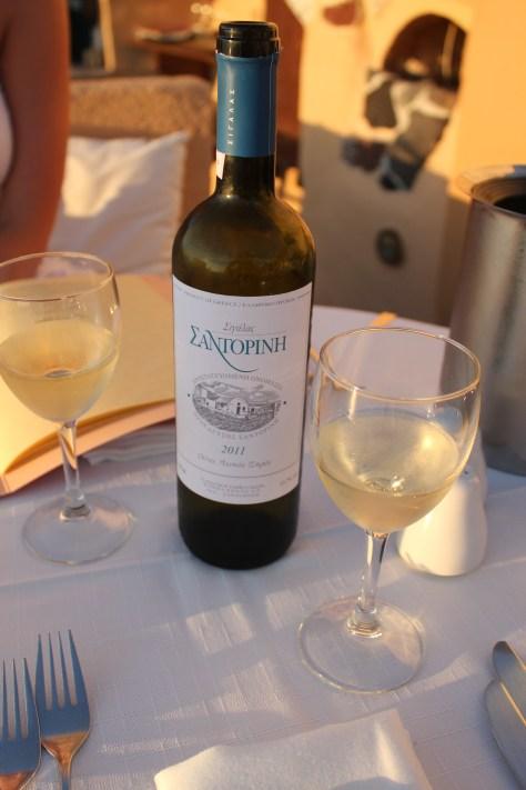 Wine and Sunset; Santorini Island, Greece; 2013