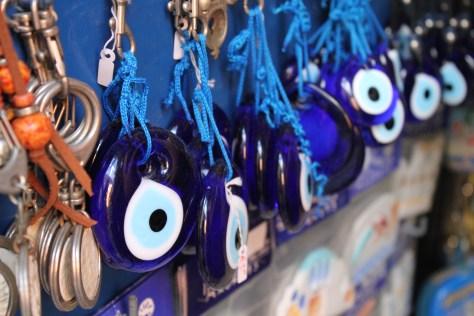 Greek Evil Eye Symbol; Santorini Island, Greece; 2013