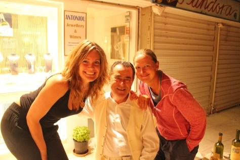 Ashley, me, and Shop Owner; Santorini Island, Greece; 2013