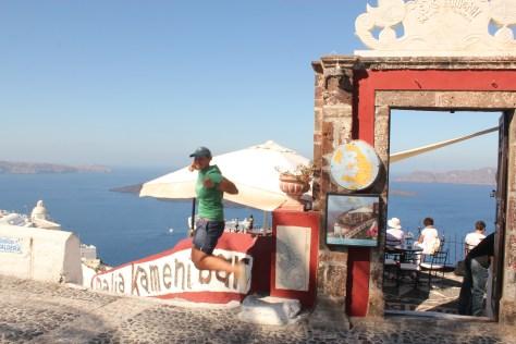 Signature Jumpin' Photograph; Santorini Island, Greece; 2013