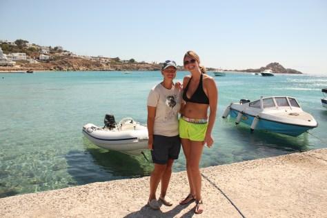 Ashley & I; Mykonos Island, Greece; 2013