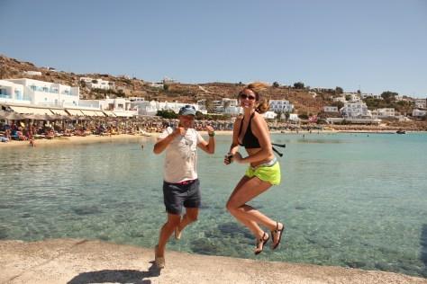 Signature Jumpin' Photograph with Ashley; Mykonos Island, Greece; 2013