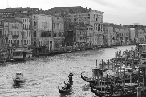 Another City View in Black-n-White; Venice, Italy; 2011