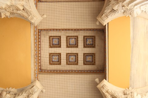 Ceiling of Beautiful Structure; Athens, Greece; 2013