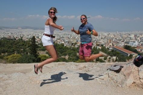 Signature Jumpin' Photograph with Ashley; Athens, Greece; 2013