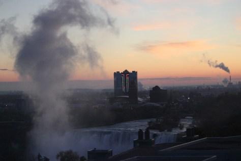 Sunset Niagara Falls; Niagara Falls, Canada; 2011