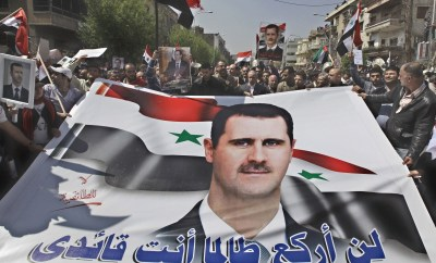 A Syrian demonstration.