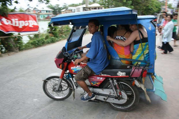 A family on an MC ride.