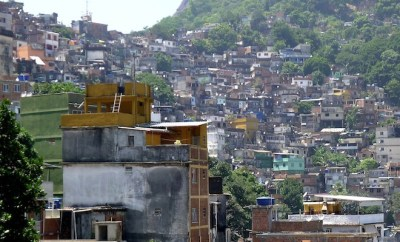 View over Rocinha, Rio de Janeiro's largest favela that was taken back by the police in November 2011.