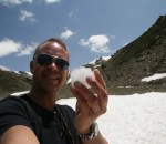 Last snow of the Sierra Nevadas, Spain, in May. Off Season Tourism is the next big thing.