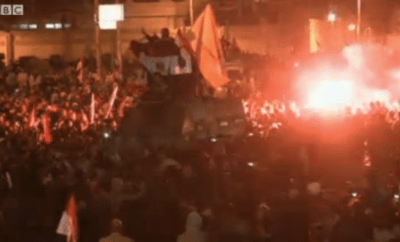 Demonstrations that turned into violence were reported from Egypt. Photo: BBC
