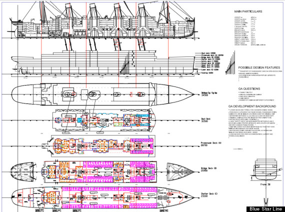 Blueprint of the new ship. Photo: Blue Star Line handout