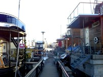 Floating homes at Stockholm's Pampas Marina. Photo: TravelingReporter.com
