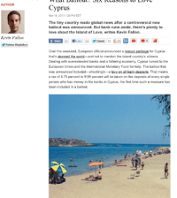 The Daily Beast's six best things about Cyprus.