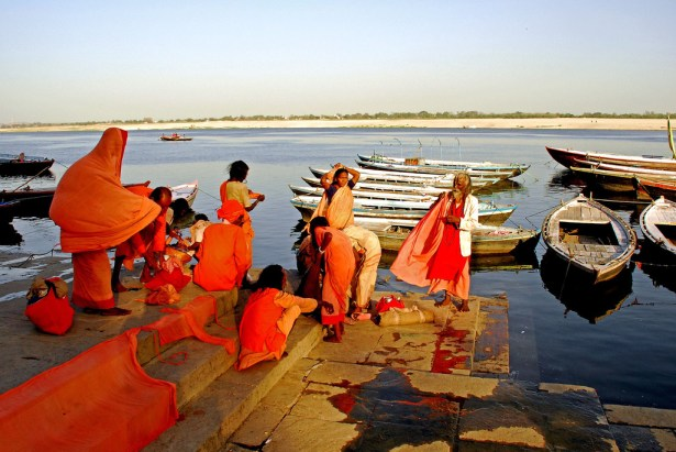Dyeing by the Ganga, Varanasi, India.