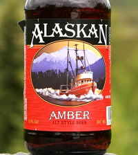A well traveled bottle of Alaskan Amber.