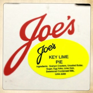 Joe's Key Lime Pie
