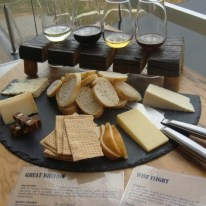 The Cheese Barrel Swan Valley Great Britain regional board and wine flight
