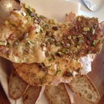 Must wine bar pistachio crackers and sourdough bread perth