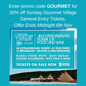Gourmet Escape 2015 Discount Code
