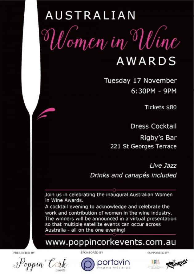 Australian Women in Wine Awards 2015 - Perth Event Details
