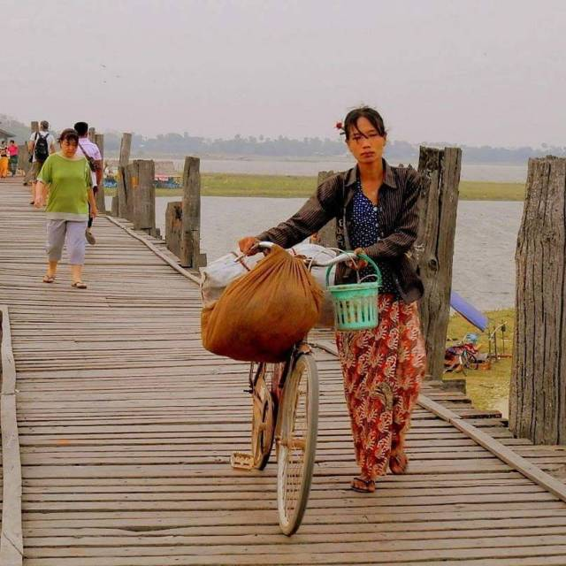 Crossing the longest teak bridge in Mandalay agameoftones adventure beautifuldestinationshellip
