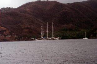 Windjammer off Anse Chastanet