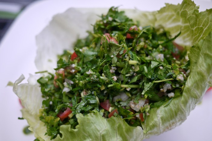 Tabbouleh salad at Wild Jordan in Amman, Jordan