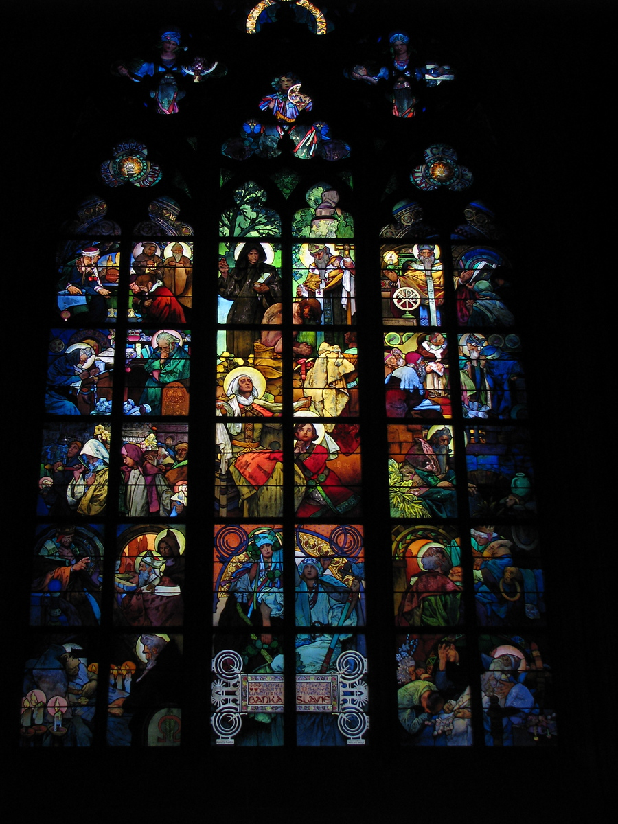 Mucha Stained Glass - Prague, Czech Republic - Photo