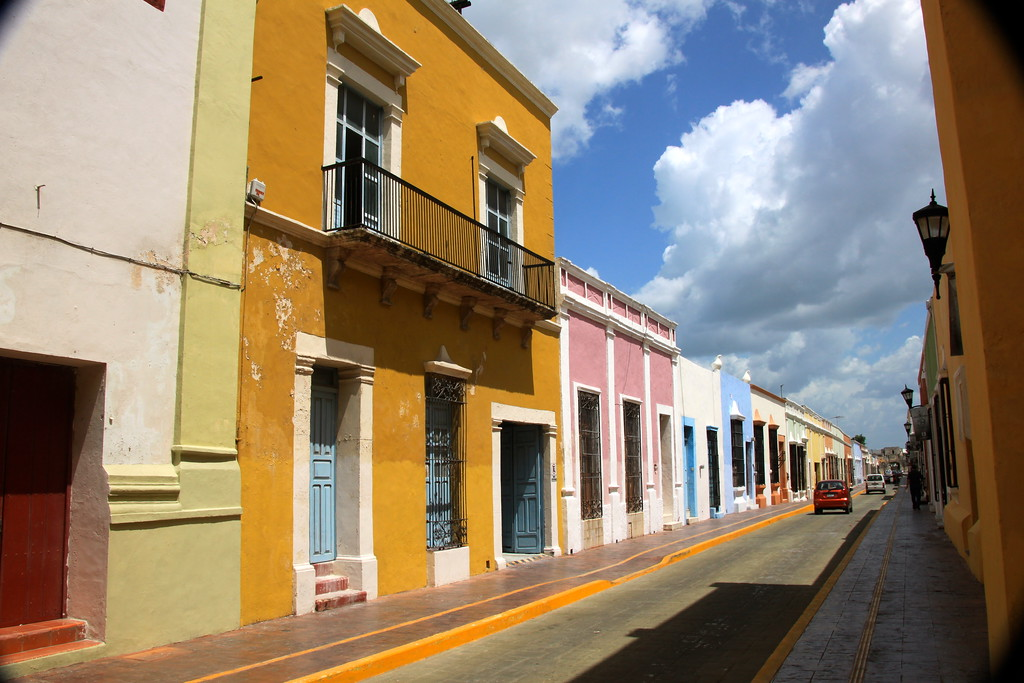 Colorful Buildings - Campeche, Mexico - Photo