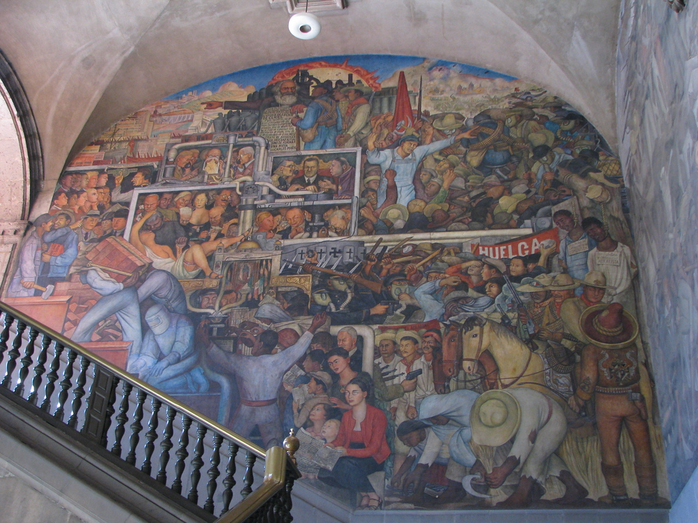 Diego rivera mural national palace mexico city mexico for Diego rivera s mural