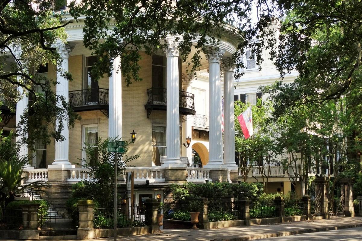 Südstaaten Herrenhaus am Forsyth Park Savannah in Georgia