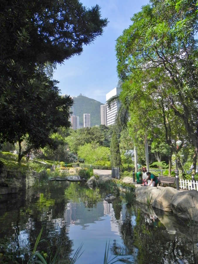 China, Hong Kong, Hong Kong, Park, Victoria Peak, lake