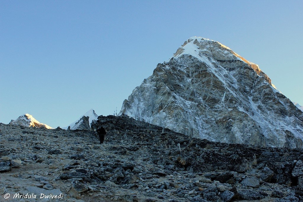 Snow clad peak Himalays