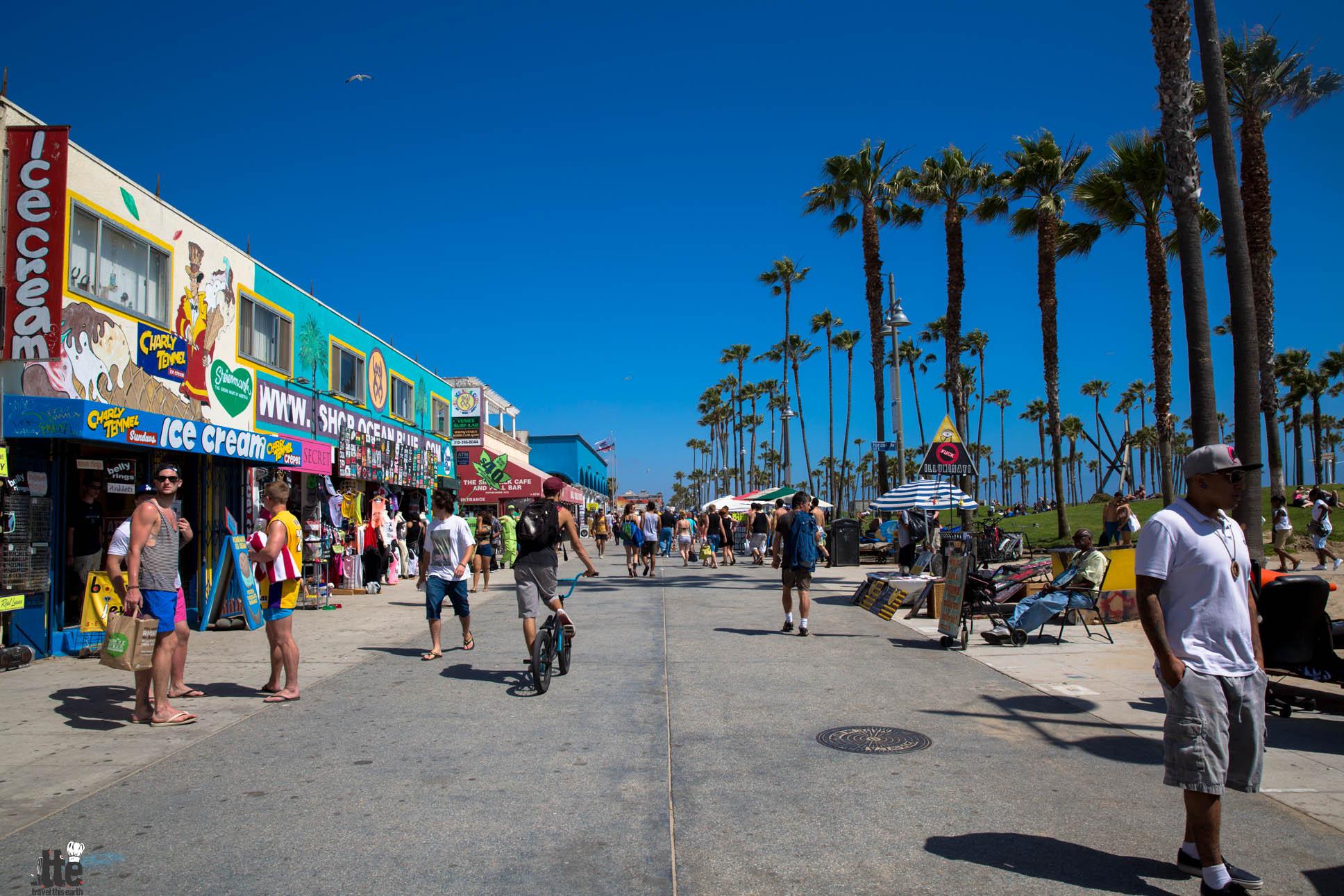 Venice Beach Boardwalk (photo courtesy of travelthisearth.com)
